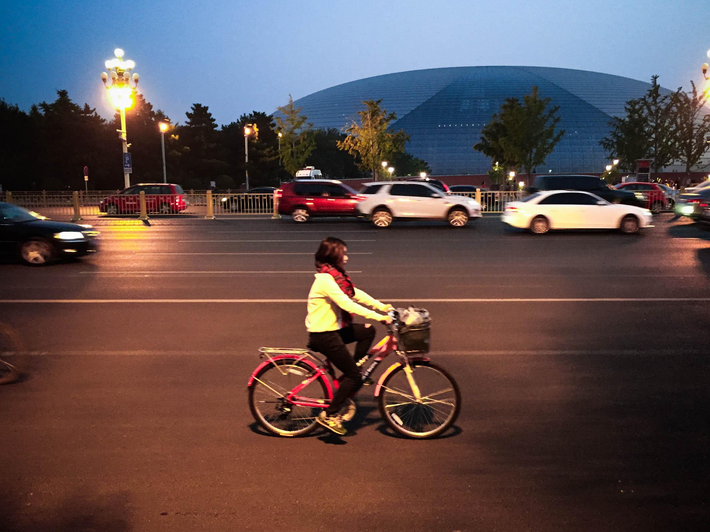 在北京最美的秋天 骑着单车走进爸爸的童年图片