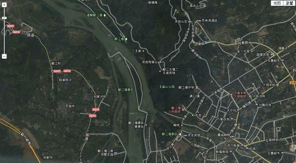 都江堰景点分布图 都江堰示意图