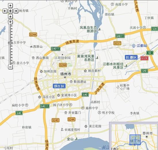 供扬州旅游地图