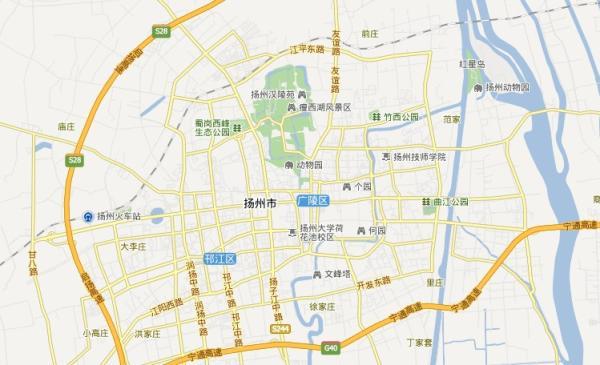 扬州旅游地图 扬州地图