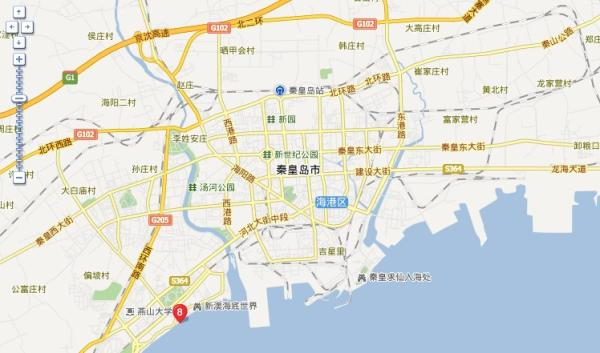 秦皇岛旅游地图 秦皇岛旅游景点地图