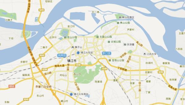 镇江旅游地图 镇江旅游景点地图