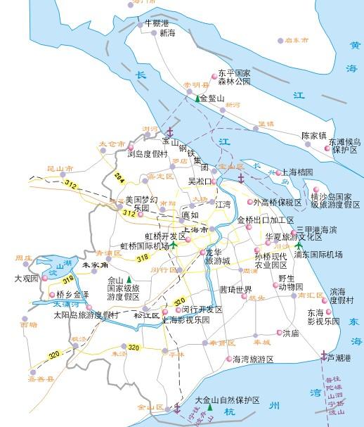 上海旅游景点地图
