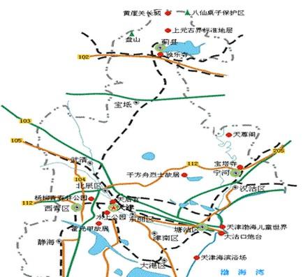 天津旅游地图 天津旅游景点地图