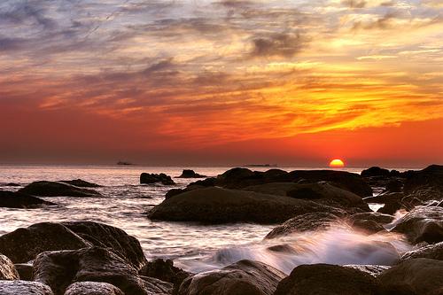 和平岛海滨公园夕阳
