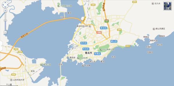 青岛地图2013 青岛市我国的一个副省级城市和历史