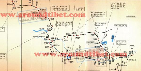 2013西藏旅游地图 西藏旅游景点地图