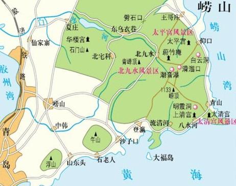 青岛旅游景点地图 青岛旅游景点分布图