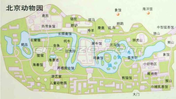 北京动物园游览图 北京动物园景区地图
