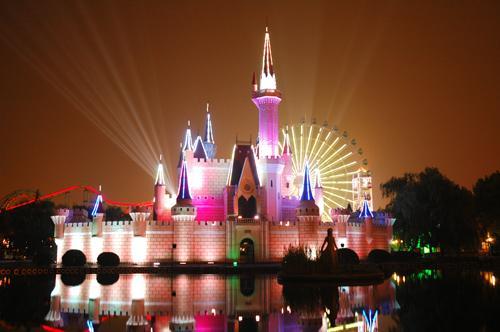 北京石景山游乐园摩天轮 石景山游乐园摩天轮图片图片