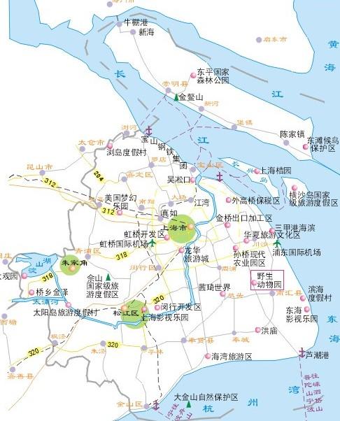 上海野生动物园交通地图