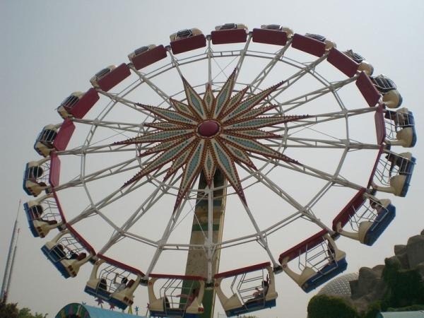 北京石景山游乐园的摩天轮