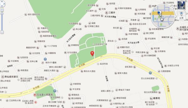2013大研古城地图 大研古城旅游地图