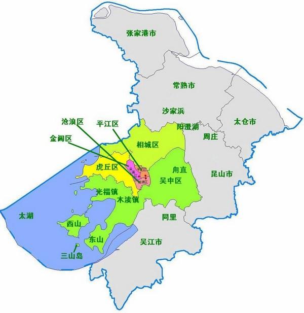 2013苏州地图 苏州旅游地图 苏州旅游景点地图图片