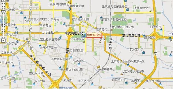 北京欢乐谷地址 北京欢乐谷地图