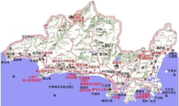 2013三亚地图 三亚旅游地图