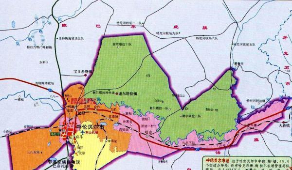 呼伦贝尔地图 呼伦贝尔旅游地图图片