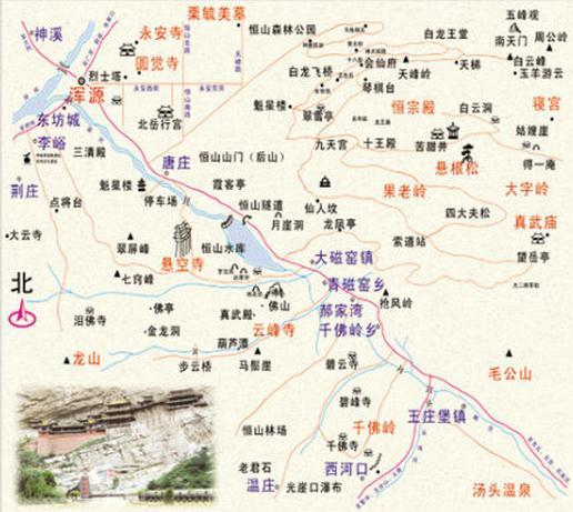 大同旅游景点地图