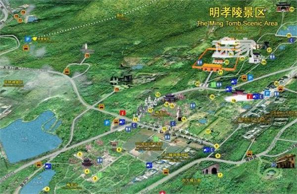 明孝陵地图 明孝陵景区地图