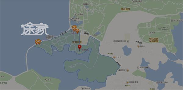 武汉东湖交通地图
