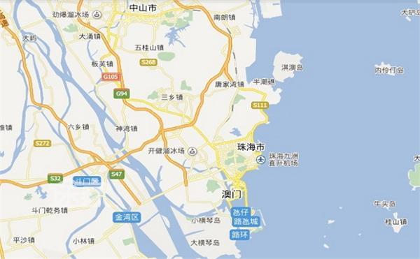 珠海市地图