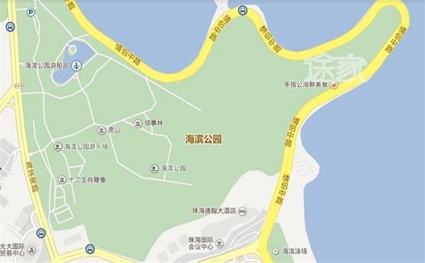 珠海公园平面图