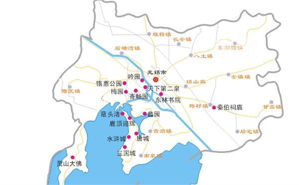 2014无锡地图 无锡旅游地图
