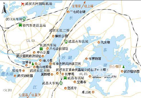 2014武汉地图 武汉旅游地图 武汉旅游景点分布图图片