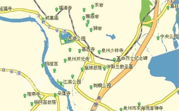 泉州地图 2014 泉州旅游地图 泉州景点分布图