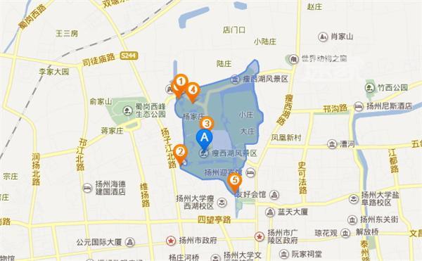 扬州瘦西湖 地图