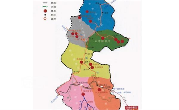 儿童手绘桂林山水地图
