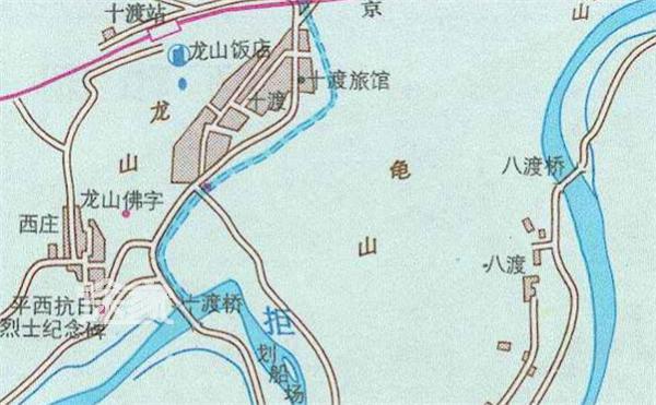十渡地图 十渡旅游地图 十渡旅游路线图