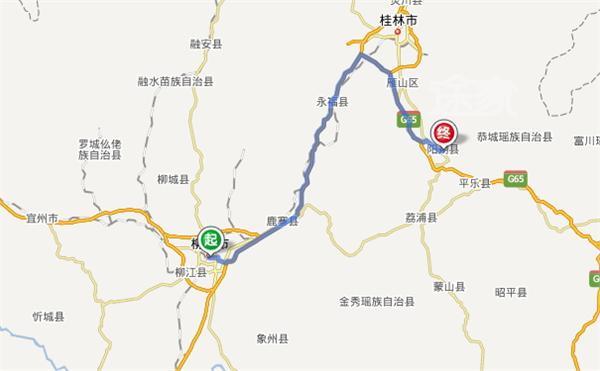 柳州到阳朔地图