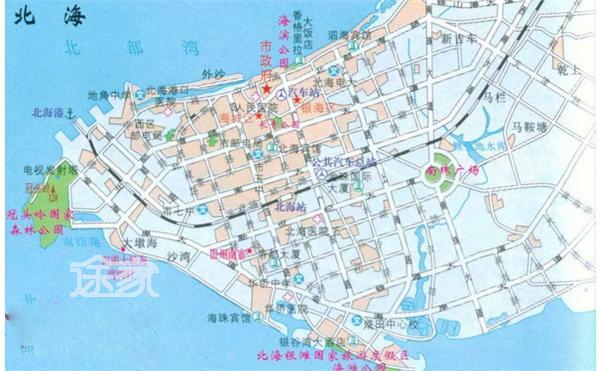 广西北海市区地图