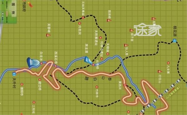 旅游指南  泰安旅游指南 2014泰山登山路线图 泰山登山路线全攻略