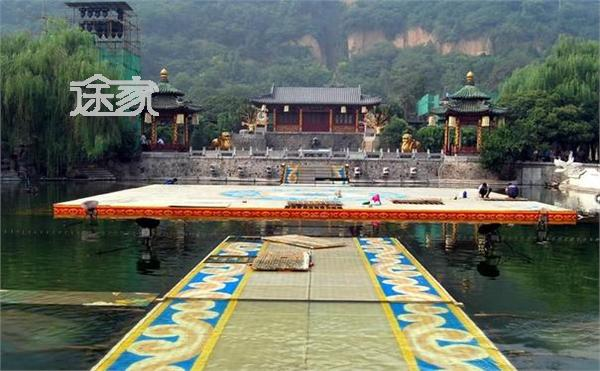 旅游指南  西安旅游指南 华清池图片 华清池景点介绍   九龙湖占地