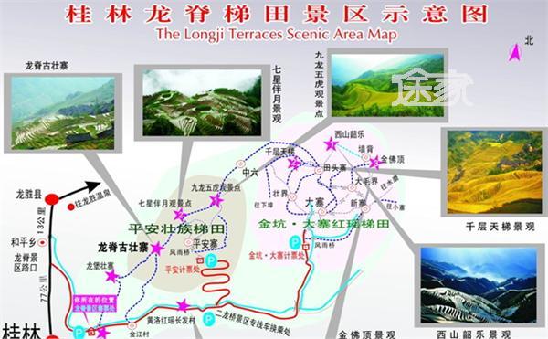 桂林的景点分布图_桂林市区景点分布图图片