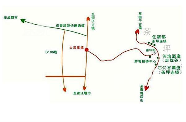 都江堰虹口漂流地图