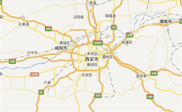陕西省西安市地图