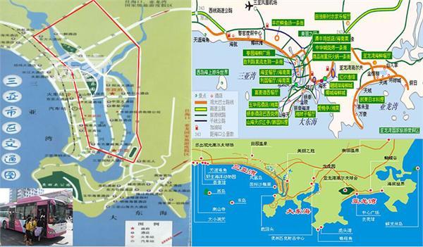 三亚市区交通图