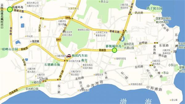 北戴河地图