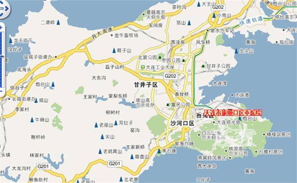 大连地图 大连景点地图图片