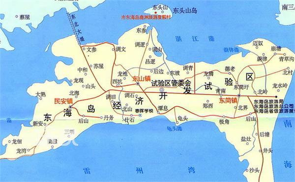 东海岛附近地图
