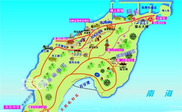 世界最漂亮的风景囹�a_旅游指南  茂名旅游指南 放鸡岛地图 放鸡岛地址   a.