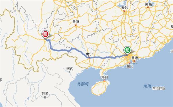廣州東山口手繪地圖