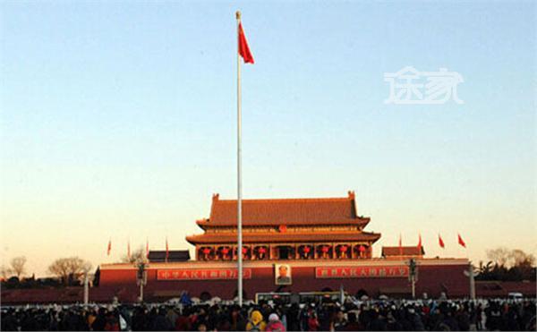 天安门广场升国旗