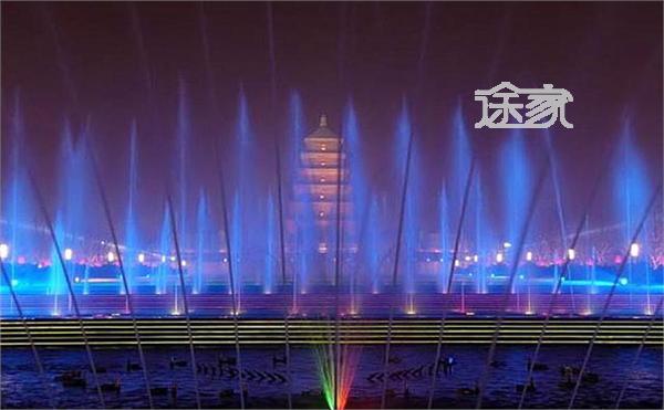大雁塔音乐喷泉 2014大雁塔音乐喷泉时间