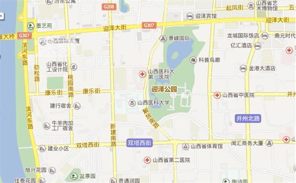太原迎泽公园位置图片