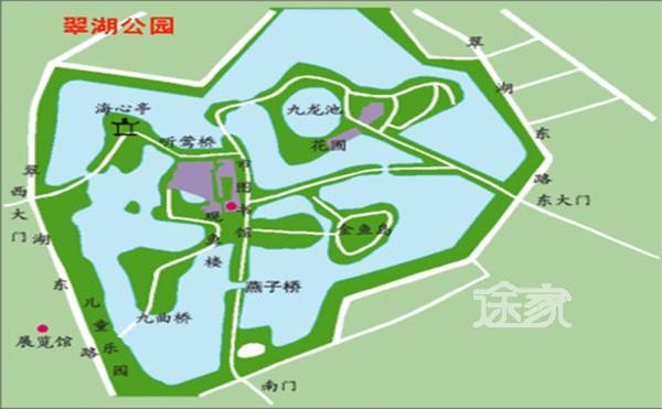 翠湖公園地址 翠湖公園地圖 翠湖公園平面圖