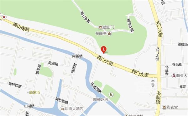 常熟虞山景区地图